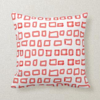 Von Hand gezeichnete Rote Plätze Kissen