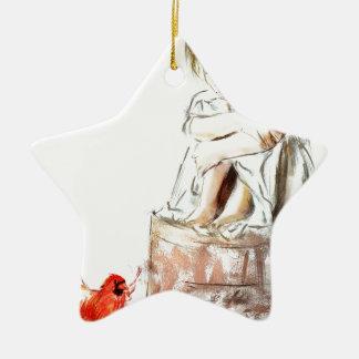von meinem Geist gehöre ich Keramik Stern-Ornament
