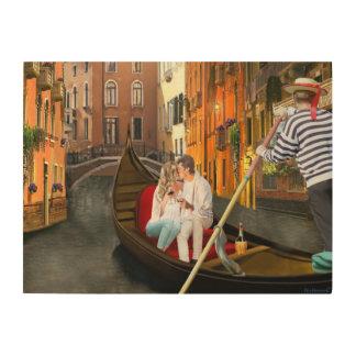 Von Venedig mit Liebe Holzleinwand