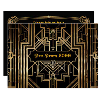 Vor-Abschlussball Einladung, Quinceanera, Gatsby 12,7 X 17,8 Cm Einladungskarte