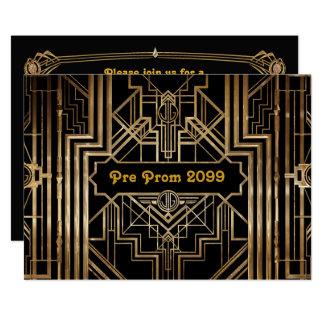 Vor-Abschlussball Einladung, Quinceanera, Gatsby Karte