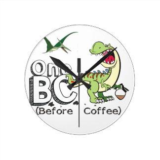 Vor Kaffee Runde Wanduhr