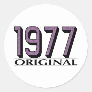 Vorlage 1977 runder aufkleber