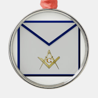 Vorlagenmaurer-Schürze Rundes Silberfarbenes Ornament