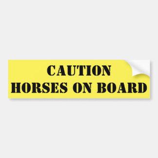 Vorsicht-Pferde an Bord Autoaufkleber