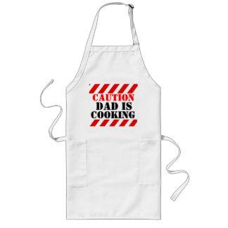 Vorsicht-Vati kocht grafische Koch-Schürze Lange Schürze