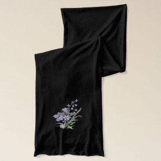 Vorzüglicher blauer Bell- und Schmetterlings-Schal Schal