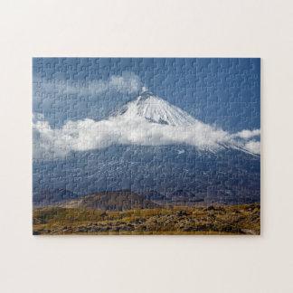 Vulkan Klyuchevskaya Sopka auf Halbinsel Foto Puzzles