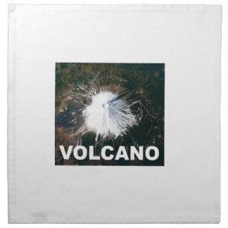 Vulkan von oben serviette