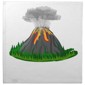 Vulkaneruption und -feuer stoffserviette