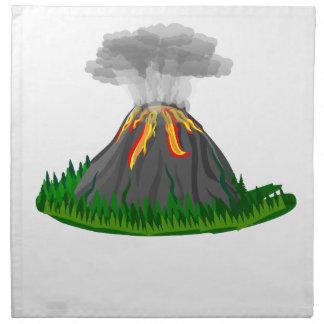 Vulkanfeuereruption Stoffserviette