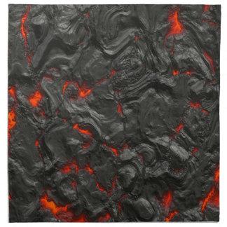 vulkanischer Lavahintergrundeffekt Stoffserviette