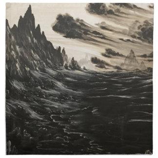 Vulkanisches Ufer Serviette