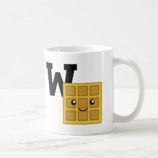 W ist für Waffel Tasse