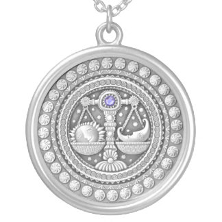 Waage-Münzenhalskette Versilberte Kette