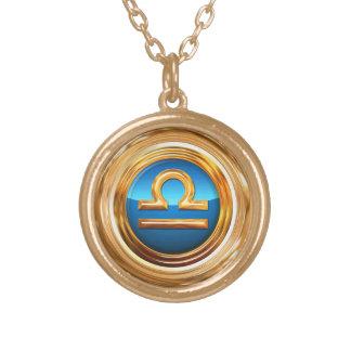 Waage-Tierkreis-Symbol Vergoldete Kette