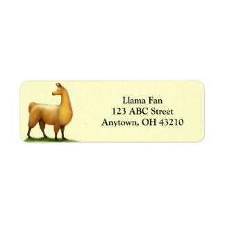 Wachsames Lama-kundengerechter Aufkleber Rücksende Aufkleber