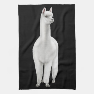 Wachsames weißes Alpaka-Geschirrtuch Handtücher