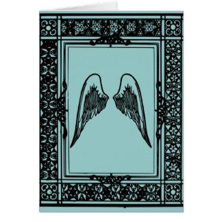 Wachsen Sie Flügel danken Ihnen zu kardieren Karte