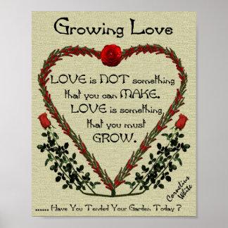 Wachsende Liebe Poster