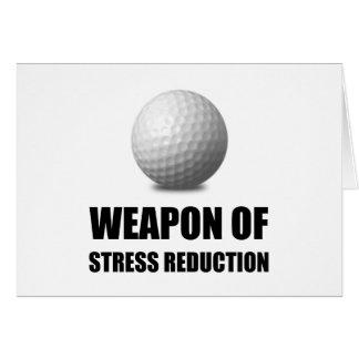 Waffe des Druck-Reduzierungs-Golfs Karte