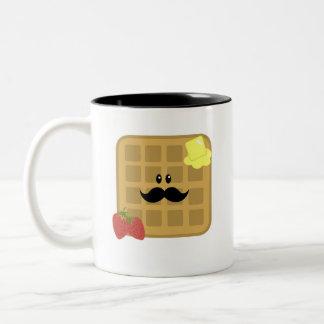 Waffel-Mann-guter Morgen! Zweifarbige Tasse