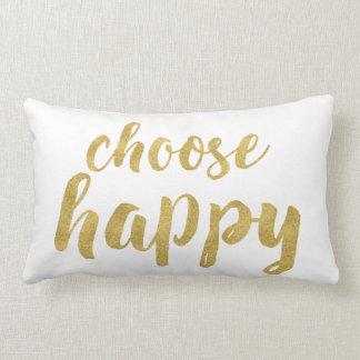 Wählen schicke Hand beschriftetes Gold glückliches Lendenkissen