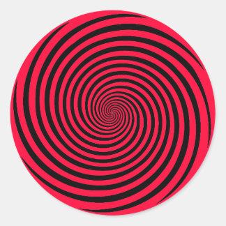 Wählen Sie Ihre Hintergrund-Farbhypnose-Spirale Runder Aufkleber