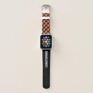 WÄHLEN Sie Jahr-FARBEpersonalisierten Basketball Apple Watch Armband