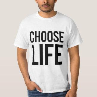 Wählen Sie Leben-80er Vintages klassisches Prolife T-Shirt