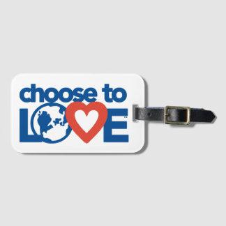 Wählen Sie zum Liebe-Gepäck-Umbau Gepäckanhänger