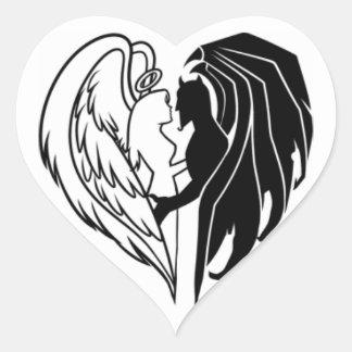 WAHRE LIEBE Herz-Aufkleber