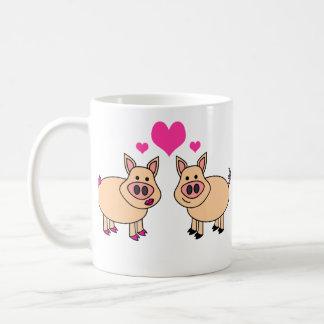 Wahre Liebe - niedlicher Schwein-Cartoon Tasse
