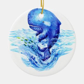 Wal-Aquarell Rundes Keramik Ornament