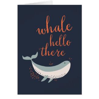 Wal hallo mitteilungskarte