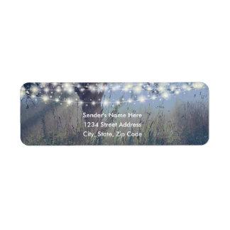 WaldDämmerungs-feenhafte Licht-Adressen-Etiketten