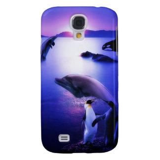 Waldelphin-Pinguin-Ozeansonnenuntergang Galaxy S4 Hülle