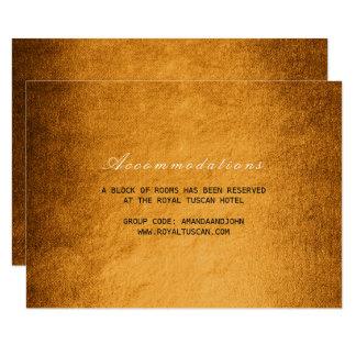 Waldfall-Herbst-Hochzeits-Hotelunterbringung 8,9 X 12,7 Cm Einladungskarte