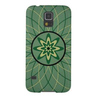 Waldgrün-geometrische Blume Galaxy S5 Cover