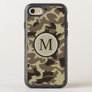 Waldmilitär tarnt Muster-Monogramm OtterBox Symmetry iPhone 7 Hülle