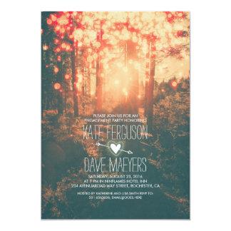 Waldschnur beleuchtet rustikales Verlobungs-Party 12,7 X 17,8 Cm Einladungskarte