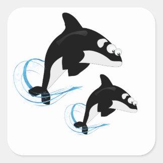 Wale Quadrat-Aufkleber