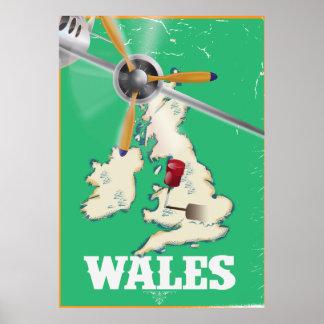 Wales, britische Insel-Vintages Reiseplakat Poster