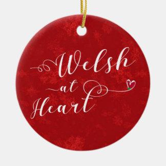 Waliser am Herzen, Weihnachtsbaum-Verzierung, Keramik Ornament