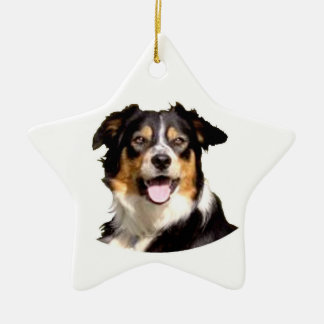 Waliser-Border-Collie Keramik Ornament