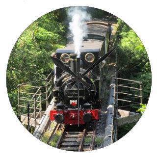 Waliser-Dampf-Zug Große Wanduhr