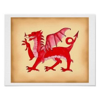Waliser-Drache Poster