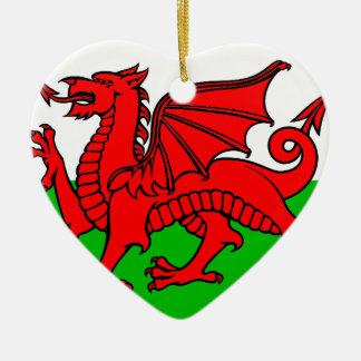 Waliser-Flagge Keramik Ornament