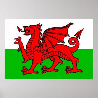 Waliser-Flagge Poster