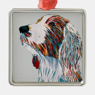 Waliser-Springerspaniel-Kunst Silbernes Ornament